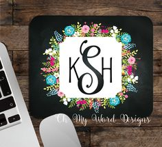 A personal favorite from my Etsy shop https://www.etsy.com/listing/287682173/monogram-mouse-pad-monogram-mouse-pad