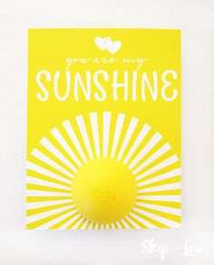 You Are My Sunshine eos lip balm gift is a great way to brighten someone's day. Pick up an eos lip balm, print off this cute printable MichaelsMakers Skip To My Lou Eos Lip Balm, Box Of Sunshine, You Are My Sunshine, Sweet 16 Birthday, 16th Birthday, Secret Sister Gifts, Sweet 16 Gifts, Thing 1, Gift Tags Printable