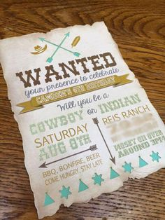 Cowboys and Indians Birthday Party Ideas | Photo 7 of 31 | Catch My Party