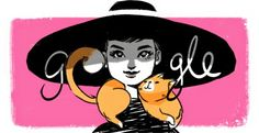 Audrey Hepburn's 85th Birthday Doodle proposal... was not used.