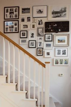 Stairs Gallery of pictures will of course be done in a new house! Always love love love it!