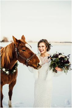 Rustic Bridal Shoot Inspiration via Rocky Mountain Bride Winter Mountain Wedding, Snowy Wedding, Winter Wedding Ceremonies, Wedding Ceremony, Winter Wedding Inspiration, Bridal Shoot, The Ranch, Stunning Dresses, Beautiful Bride