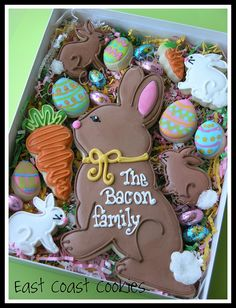 Bunny Family Cookie Gift Box by East Coast Cookies