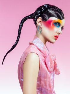 Model wear strange makeup for Jalouse Magazine May 2016 issue