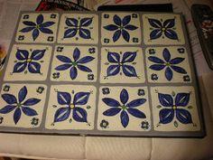 Floor cloth tiles