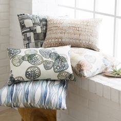 Natural Affinity pillows by @shellrummel for Surya provide a graceful fluidity…