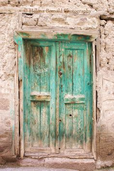 I love the character of this. It looks so wise. Old Wooden Doors, Rustic Doors, Old Doors, Stairs And Doors, Windows And Doors, Go Green, Green Colors, Shutter Projects, Picsart Background