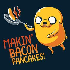 Makin' Bacon Pancakes! - This official Adventure Time t-shirt featuring Jake is only available at TeeTurtle!
