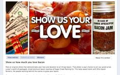 Marrying pop culture with social media -- a bacon photo contest on Facebook!