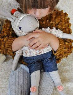 One of the most amazingly beautiful handmade confetti rabbit cuddly toy by Misha & Puff and Polka Dot Club ❤