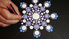 How to paint dot mandalas-#29 Snowflake