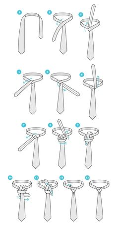 The practical manual for tie knots New Decoration ideas is part of Trinity knot tie - More than of the workers are employed in a company where there is obligatory dress code When yo Cool Tie Knots, Cool Ties, Trinity Knot Tie, Nudo Windsor, Tie A Necktie, Necktie Knots, Fashion Infographic, The Knot, Tie Crafts