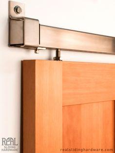 Stainless Box Rail Barn Door Hardware (400 Lb)