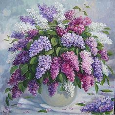 Oil painting Flowers art inexpensive canvas wall art lil peep wall art linseed oil for oil painting flake white oil paint Lilac Painting, Acrylic Painting Flowers, Watercolor Flowers, Watercolor Paintings, Abstract Paintings, Oil Paintings, Painting Art, Landscape Paintings, Art Floral