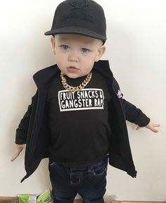 Graphic T - Fruit Snacks & Gangster Rap – The Young Nest Toddler Boy Fashion, Cute Kids Fashion, Fashion Fall, Baby Boy Outfits, Kids Outfits, Baby Boys, Hipster Graphic Tees, Gangster Rap, Monochrome Fashion