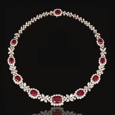 Ruby and diamond necklace, Harry Winston | Lot | Sotheby's