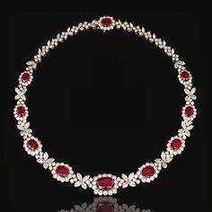 Ruby and diamond necklace, Harry Winston | Lot | Sotheby's