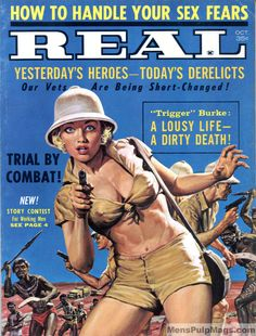 The cover artwork by Shannon Stirnweis for Real Magazine (October 1962)