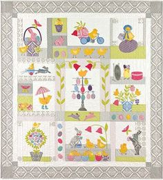 Chick Jubilee Applique Quilt Pattern by Anne Sutton of Bunny Hill Designs