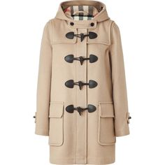 BURBERRY BRIT Camel Minstead Duffle Coat ($1,025) ❤ liked on Polyvore