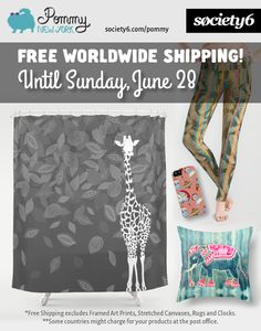 FREE SHIPPING UNTIL JUNE 28 on products from POMMY NEW YORK at society6 website