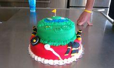Firefighter/Golf Cake