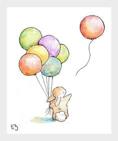 Slikovni rezultat za bunny with a balloon tattoo