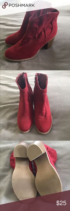 NWT Old Navy Burgundy suede booties - size 9 NWT Old Navy burgundy suede booties - size 9. Never worn. Perfect condition Old Navy Shoes Ankle Boots & Booties