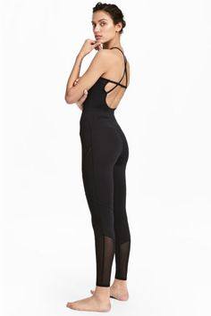 Yoga jumpsuit - Black - Ladies | H&M GB