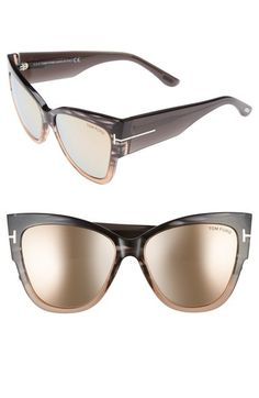 7aa96f8ef2f2 Tom Ford Anoushka 57mm Gradient Cat Eye Sunglasses