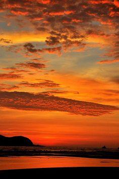 Sunset in Lima, Peru. Love it!
