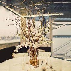 Glass Centerpieces, Wedding Table Centerpieces, Centerpiece Decorations, Wedding Decorations, Centerpiece Flowers, Tree Branch Centerpieces, Wedding Backdrops, Wedding Table Arrangements, Cheap Table Centerpieces