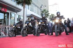 The red carpet at Marvel's Captain America: The Winter Soldier premiere