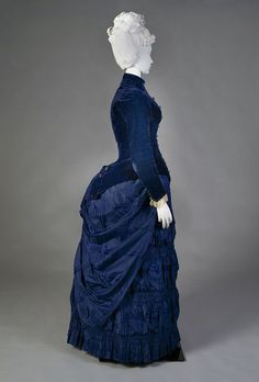 Afternoon dress ca. 1888 From the Kent State... - Fripperies and Fobs