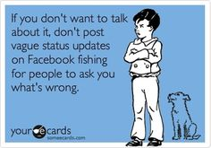 status updates - i see this everyday