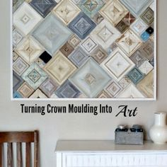 Crown Moulding Scraps Into Home Decor - A pictorial tutorial.  (Hey!  That rhymes!)
