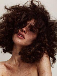 """thebeautymodel: """" """"Spot the Dot"""" Iana Godnia by Hannah Khymych for Models.com Makeup: Erin Parsons Hair: Stefano Greco Nails: Yukie Miyakawa Producer: Jazmin Alvarez """""""