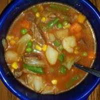 Mike's Negative Calorie Vegetable Beef Soup Recipe - Allthecooks.com