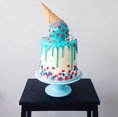 drippy ice cream cake - katherine sabbath on coco cake land