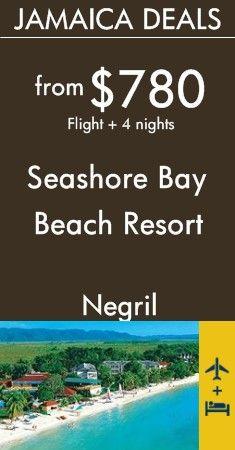 Negril - Jamaica: Seashore Bay Beach Resort - All Inclusive Jamaica Resorts, Negril Jamaica, All Inclusive Resorts, Beach Resorts, Vacation Deals, Champs Elysees, Saving Money, Save My Money, Money Savers