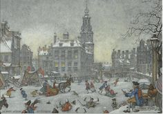 Winter tableau, Anton Pieck
