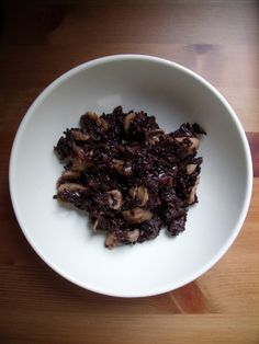 Black mushrooms risotto (venere rice)