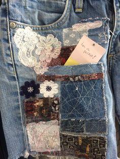 Artisanats Denim, Patched Denim, Denim Shirts, Recycled Fashion, Recycled Denim, Recycled Crafts, Jean Crafts, Denim Crafts, Grateful Dead