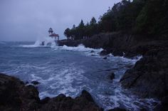 lighthouse at Lime Kiln Point State Park San Juan Island photo by Joanne