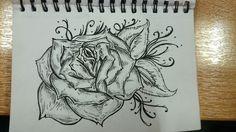 Rose #lovedrawing #tattooidea #loveroses #rose #swirls