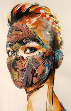 ArtPadSF 2013 - Eclectix Sandra Chevrier, Ppr, Mixed Media Painting, Art Fair, Color Tattoo, Art Forms, Body Painting, All Art, Cover Art
