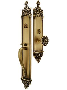 """23 3/4"""" Colburg Thumblatch Mortise Entry Set With Interior Knob or Handle 
