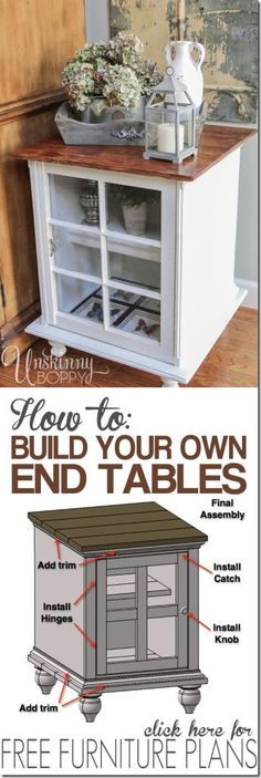 How to build your own end tables (plus free plans!)