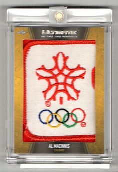 2016-17 Leaf Ultimate Al Macinnis One-Timer Jumbo Game Used Patch Logo #1/1
