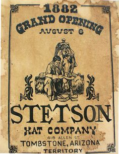 Stetson Hat Company Vintage Ad Poster at Circle KB.com All Western Cowboy